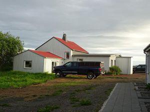 Laekjarkot rooms and cottages et point de vue depuis le gite. Près de Borganes, Islande, 07/16