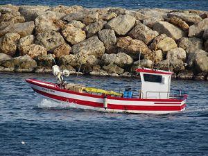 GR 92 à L'Amettla de Mar, retour des pêcheurs, Noël 2016