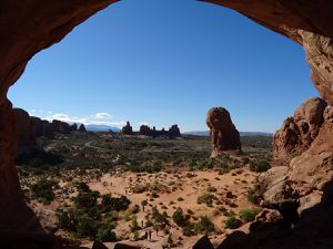Double arch- parc national des arches- Utah