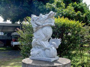 Le seigneur Kanti et les gardiens du temple, un jardin zen.