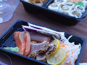 Bento sashimis et suhis