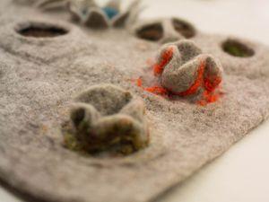 Probeflächen entstanden während des workshops bei Filzrausch / Fotos Maria Friese