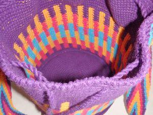 Mochila en jacquard de crochet ...