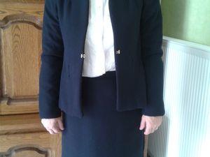 jupe doublée avec veste ouatinée de laine
