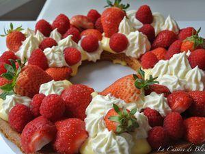 Tarte framboises, fraises et ses crèmes