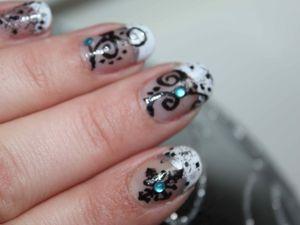 nail art de noel, nail art french, nail art arabesque, christmas nail art