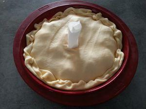 Tartin tatin salée aux gésiers et aux pommes
