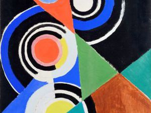 1952 - composition pouir Jazz - gouache sur papier 77x57cm &#x3B; 1955 - composition - huile sur toile 160x215cm