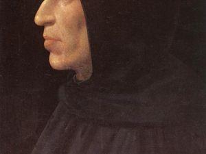 Francucci Innocenzo, dit Innocenzo da imola - Portrait présumé de Vannozza Cattanei - 83x62cm Rome &#x3B; Fra'Bartolomeo - Portrait de Jérôme Savonarole - 1499 - huile et tempera sur panneau 72x56cm - Florence