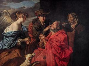 Matthias Stomer - Guérison de Tobit - vers 1640-1649 - huile sur toile 155x207cm - Fondation Longhi