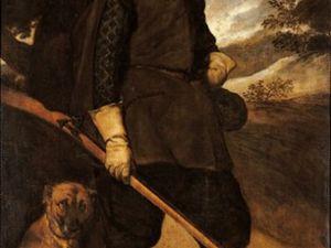 Portrait de Philippe IV en chasseur - vers 1632/1634 huile sur toile 200x120cm - Castres musée Goya et Portrait de l'Infante Marguerite en bleu - vers 1650 - 127x107cm huile sur toile - Vienne
