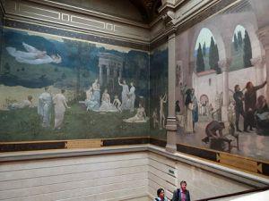 Le réfectoire et l'escalier (décor de Puvis de Chavanne), cliquez pour agrandir les photos