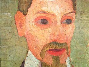 Nourrisson avec la main de sa mère -détrempe 1903 - 31,3x26,7cm - acheté par Rilke / Portrait de Rilke - juin 1906 détrempe 32,3x24,5 cm