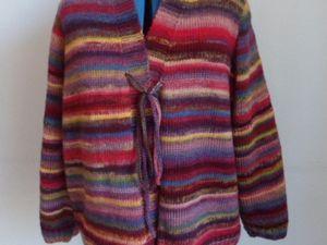 Veste multicolore sans bouton