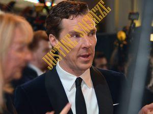 Benedict Cumberbacth, pressé, n'a pas daigné faire une quelconque halte pour ses fans....
