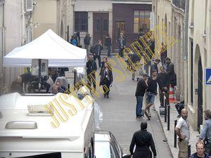 Un aperçu de la rue choisie pour accueillir le tournage.