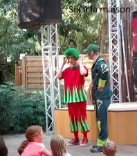 Center Parcs Lac d'Aillette , spectacle enfants Ory et Bing