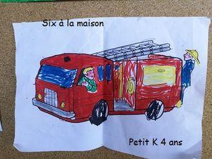 dessins pompiers