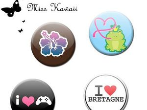 Badges 25mm 38mm 56mm Pin's Badge Button