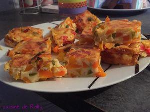 Clafoutis aux poivrons et carottes