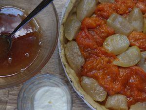 Tarte improvisée poires, abricots &amp&#x3B; yaourt