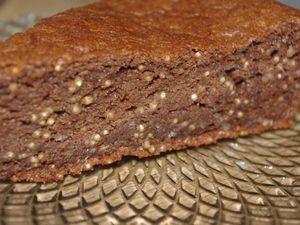 Gateau sans gluten quinoa, cacao &amp&#x3B; huile d'olive