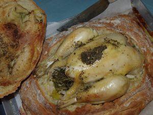 Pollo in crosta di pane