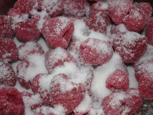 Crumble framboises et chocolat blanc