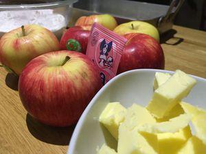 Gâteau surprise aux pommes