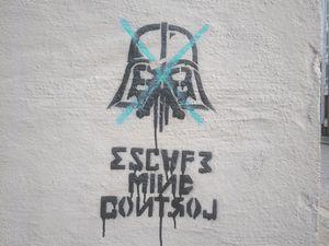 Un peu de street art, trouvé au détour d'une balade.