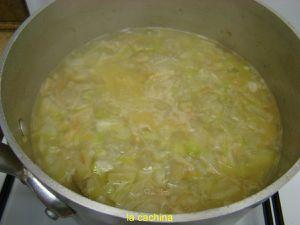 Soupe de Cucuzze longue (courgette scilienne) en photos