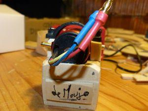 Le bloc micro-moteur et son réducteur. Pas mignon ça ?
