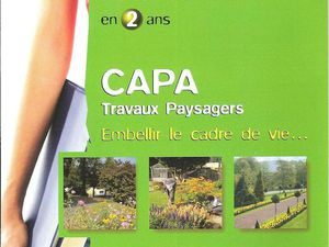 Fiche Formation CAPA Travaux Paysagers