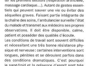 Aide-Soignant, Infirmiers, Ambulancier