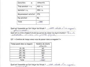 Maths - Statistiques - Activité