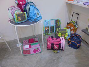 Et enfin la bagagerie enfant (valises, sacs de sports, sacs à dos, à goûter, organiseur de voiture), à tomber !!!