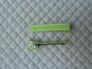 Barrettes pince-crocodile,ruban sellier