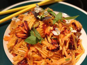 Salade de carottes thaï en gaufrettes...