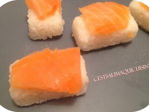 Sushi au saumon à ma façon