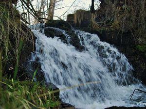 1 et 2 cascade du bas -  3 cascade de dessus - 4 vue de la route