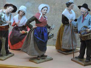 Scène de Rose Gelato  - santons de Lise Berger