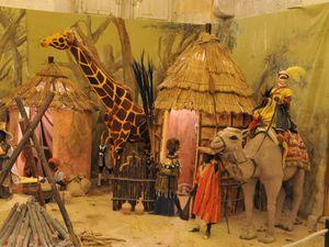 crèche du désert d'A. Bertello et grande crèche africaine.