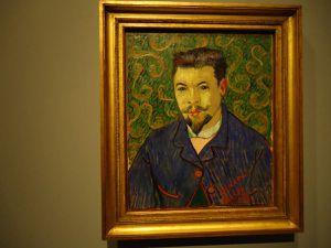 """Picasso """"Portrait de Benet Soler"""" été 1903 (Ermitage), Van Gogh """"Portrait du Docteur Rey"""" janvier 1889 (Pouchkine), Cézanne """"L'homme à la pipe"""" 1890-1893 (Pouchkine)"""