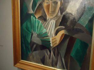 """Picasso """"Femme à l'éventail"""" printemps - été 1908 (Ermitage)"""