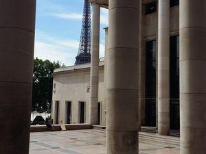 Sur la terrasse du musée !