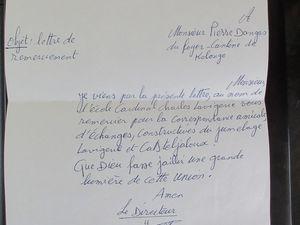 Les lettres de remerciements des amis maliens pour Sainte Marie!