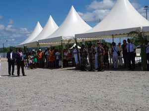 RSMA Guyane - Présentation au drapeau des volontaires à Apatou