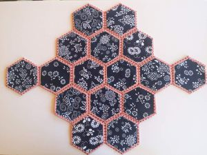 J'ai confectionné un sac hexagone