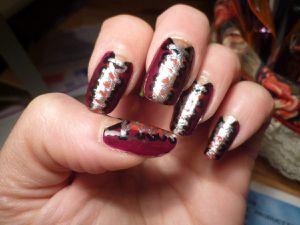 Nail art corset vernis rouge