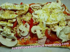 pizza pâte fourrée fromage